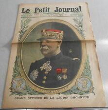 LE PETIT JOURNAL du 5 aout 1917. LE GENERAL LANREZAC en couverture