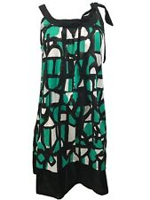 DKNY Women's Petite Dress Cover-up Beachwear Jade Multi Print, PS