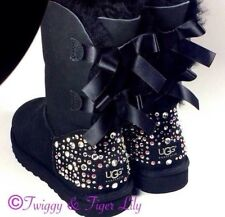 CRYSTAL Bling AUTHENTIC Ugg Boots with Custom Swarovski Crystal Embellishment