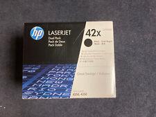 Dual Pack New OEM HP LaserJet 4250 4350 High Volume Toner Q5942XD HP 42X