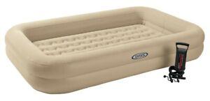 Intex Kinderreisebett aufblasbare Matratze Luftbett mit Pumpe Grau 168x107x25 cm