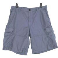 POLO Ralph Lauren Drill Khaki CARGO Shorts Mens Sz 34 Blue Gray Classic Fit