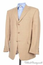 BURBERRY London Beige Brown Houndstooth Check Wool Blazer Sport Coat Jacket 42 R