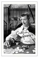 CLARK GABLE GONE WITH THE WIND AUTOGRAPH SIGNED PHOTO PRINT POSTER