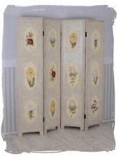 Screen Wood Rose Painting Screen Spanish Wall Country Style Partition