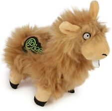 "Godog Llama Tan Buck Tooth With chew guard 7""x5"" plush dog toy squeaker Small"