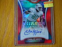 2018 CERTIFIED AUTO CHARLES HARRIS MIAMI DOLPHINS 24/40 RARE
