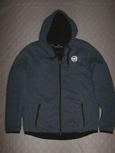 Hollister - Faux Fur Lined Blue Hoodie Style Winter Jacket Men's Size Large
