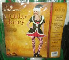 New InCharacter Costumes Deluxe Holiday Honey Sexy Elf Women's Costume Size L