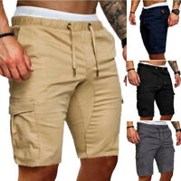 Summer Mens Cargo Shorts Casual Jogger Sports Army Combat Stretch Trousers Pants
