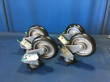 4 R.T. LAIRD R2818-T SHOCK ABSORBING CASTERS