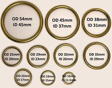 Brass Rings, Hollow for upholstery, blinds, curtains, crafts, etc