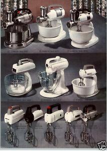 1955 PAPER AD 2 PG Hobart KitchenAid Dormeyer Westinghouse Electric Food Mixer