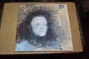 Original Outsider Art Painting Evil Demonic Man Mixed Media Signed PG 2009