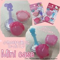 [HELLO KITTY & MY MELODY] Mini Travel Case Cosmetic Accessory Container 2pc NEW