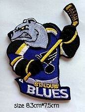 St. Louis Blues Logo, patches for and sewing on fabric.