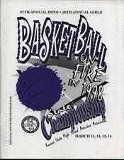 High School Basketball Program 1998 Kansas State Championship H.S.
