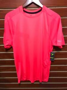 NEW Men's Active slim T-Shirt Running Crew Neck Neon Coral Pink Old Navy Medium