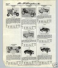 1959 61 PAPER AD Garton Junior Pedal Car BMC Speedster Tractor Mark X Fire