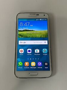 Samsung Galaxy S5 - 16GB - White - (Works On Rogers, Fido, Chatr) Smartphone