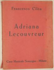 FRANCESCO CILEA ADRIANA LECOUVREUR SONZOGNO 1939 LIBRETTO D'OPERA BOOKLET TEATRO