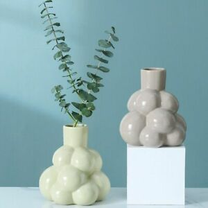 Grape Bubble Ceramic Vase Nordic Modern Home Flowerpot Minimalist Tabletop Decor