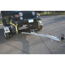 Pull Behind Steel Tow Car Dolly - 3,320 GVWR Capacity - Lights - Fenders - Ramp
