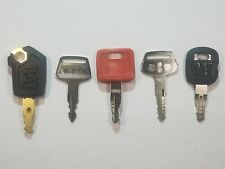 5pc Heavy Equipment Keys For Cat Caterpillar John Deere Kato Komatsu 787 5P8500
