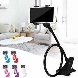 Mobile Phone Stand Lazy Bracket Two Clamp Flexible Holder for Cellphone Support
