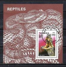 Animaux Serpents Tanzanie (87) bloc oblitéré
