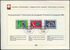 Used Sheet Swiss Stamps