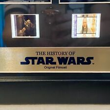 Film Cell Genuine 35mm Framed Matted History of Star Wars Wall Plaque COA