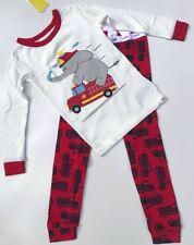 NEW BABY GAP Kids Boys fireman Fire truck Two Piece PJ Long Sleeve Pajama Set 4