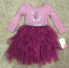 Girls Purple Long Sleeve Frozen Anna Dress 3T
