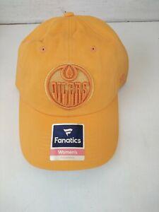 New Edmonton Oilers NHL Hockey Fanatics Adjustable Women's Hat Cap Authentic