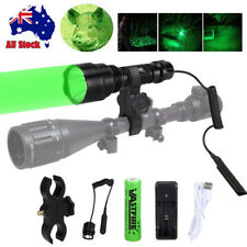 Tactical 3 Colors Flashlight Hunting Torch Light Camping Lamp Scope Gun Mount