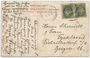 "Norway 1908 Kristiansand PPC w/KRISTIANSAND-FREDERIKSHAVN ""D"" Ship cds"