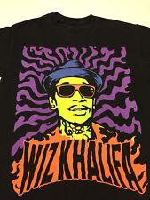 Wiz Khalifa Black T-shirt Rap Hip Hop Music Show And Prove Work Hard Play Hard