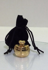VINTAGE YSL Champagne Perfume bottle 18k Gold plated Pin Brooch logo COLLECTIBLE