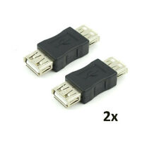 New 2 Pack USB A Female to USB A Female Coupler USB 2.0 Adapter