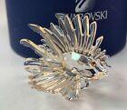 Estate Swarovski Crystal Lion Fish Figurine w/ Colored Fins in Box 601011