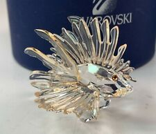 Estate Swarovski Crystal Lion Fish Figurine w/ Colored Fins in Box 601011