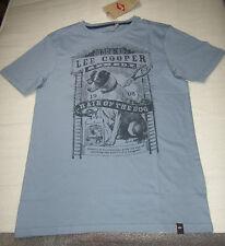 LEE COOPER T-SHIRT MANCHES COURTES GARÇON 14 ANS / 164 CM BLEU GRISE