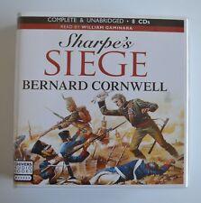 Sharpe`s Siege: by Bernard Cornwell - Unabridged Audiobook - 8CDs