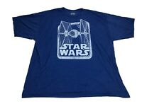 Star Wars Men's T Shirt Empire Tie Fighter With Logo Graphic Tee