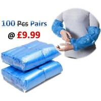 200 Pcs BLUE Disposable Plastic Armsleeves Sleeve Covers Oversleeves Cleaning