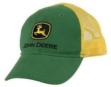 NEW John Deere Youth Size Ages 5-10 Green Twill Yellow Mesh Cap LP63873