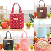 Womens Thermal Insulated Lunch Box Cooler Bag Tote Bento Pouch Lunch Container