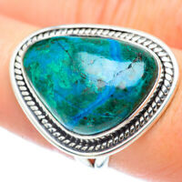 Chrysocolla 925 Sterling Silver Ring Size 8.5 Ana Co Jewelry R55994F