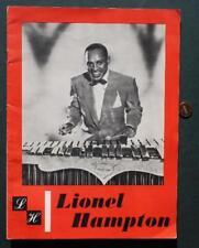 1950s Lionel Hampton On Site Jazz Concert Program-Jackie Robinson-Joe Louis too*